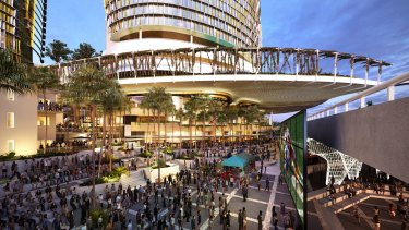Destination Brisbane concept images for the Queens Wharf mega development in Brisbane.