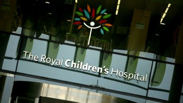 A toddler was flown to the Royal Children's Hospital in a serious condition on Saturday night.
