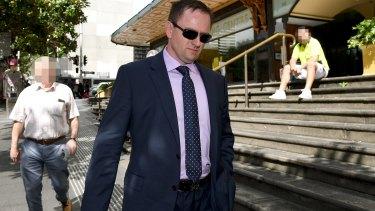 Cameron White at the Downing Centre District Court.