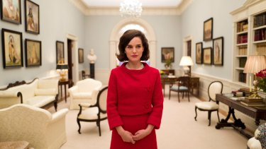 Natalie Portman delivers a breathy evocation of the former first lady in <i>Jackie</i>.