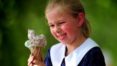 Ice cream, girl, happy kid