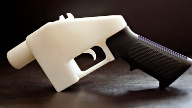The Liberator, a 3-D printed handgun created by Cody Wilson, on exhibit in London after its acquisition by the Victoria and Albert Museum.