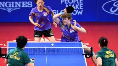 Tianwei Feng and Mengyu Yu of Singapore won gold.