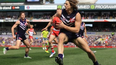 Nat Fyfe in action in last year's Qualifying Final against Sydney.