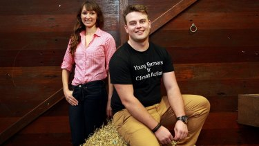 Josh Gilbert, pictured here with fellow farmer Anika Molesworth, has warned land clearing laws may damage the agriculture industry's reputation.