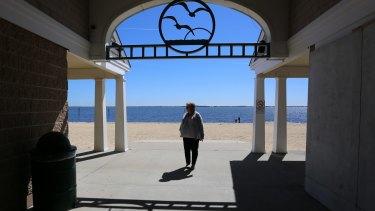 'This generation is really sick': Teri Kroll in her Long Island neighbourhood.