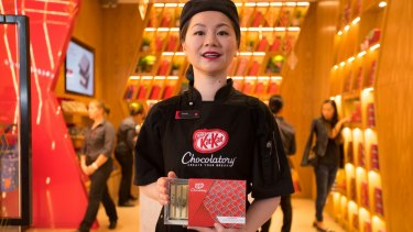 Connie Yuen is the head Chocolatier at The Kit Kat store.