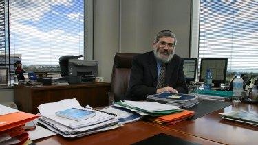 Joseph Gutnick in his Melbourne office.