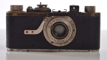 A Leica with an Elmar 3.2 lens made in 1929. Estimates: $1000-$2000.
