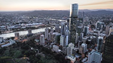 The only way is up: an artist's impression of Skytower, which is scheduled to be the first Brisbane building to reach 274 metres.