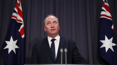 Critics have argued Barnaby Joyce should be relieved of the water resources portfolio.