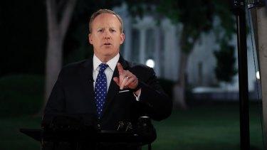 White House press secretary Sean Spicer.