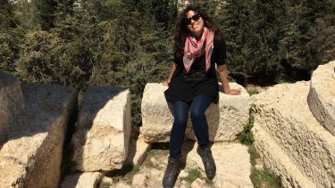 Ruby Hamad in Baalbek (ancient Roman ruins) in Lebanon's north-east on her first and only trip back to Lebanon last year.