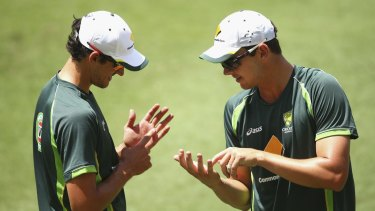 Baggy greenhorns: Josh Hazlewood will make his Test debut, while Mitchell Starc comes in to replace the vastly experienced Ryan Harris.