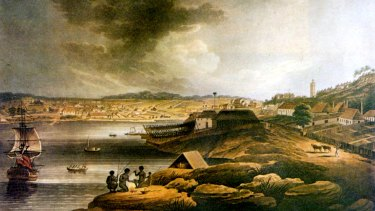 <i>A View of Sydney Cove, New South Wales</i>, by Edward Dayes, c. 1802.