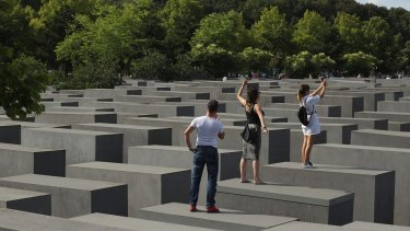 The Memorial to the Murdered Jews of Europe, also called the Holocaust Memorial in Berlin, Germany.