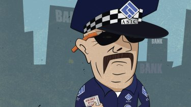 A report flayed ASIC's culture, finding it was defensive, inward-looking and risk averse. Illustration: Simon Bosch