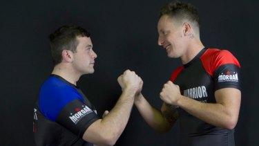 Michael Burgio and Nathan Giudice square up, pre-fight.