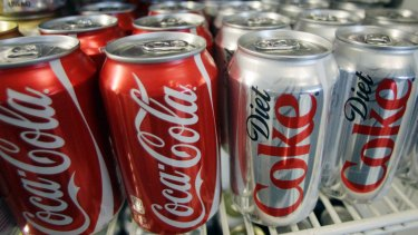 Coca-Cola Amatil said 65 per cent of its products on campus were low or zero sugar.