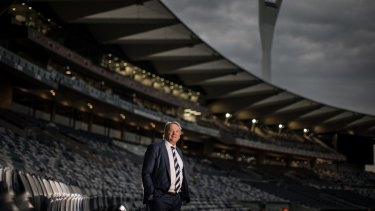 Geelong Cats CEO Brian Cook talks to The Age about the club's off field success, with the ground redevelopment and strong financial position.