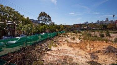 The site of the new development on Cowper Street in Glebe.