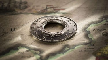 The Madrid Holey Dollar was listed for sale at $600,000.