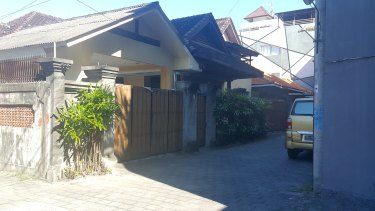 The modest Kuta villa in which Schapelle Corby has been living while on parole in Bali.
