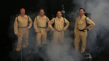 Four Brisbane men competing in the Redbull Billycart Race in Sydney in November have taken inspiration from the 1984 classic movie Ghostbusters.