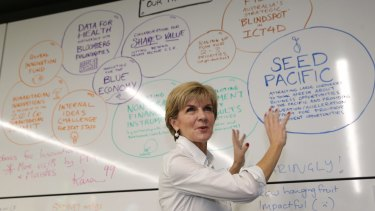 Julie Bishop at InnovationXchange headquarters.