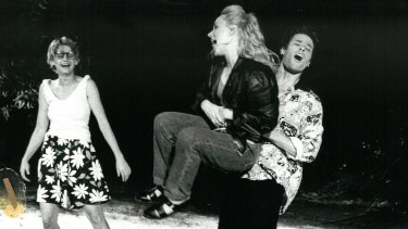 Jeanette Cronin, Jane Longhurst and Guy Pearce in <i>A Midsummer Night's Dream</i>.
