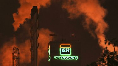 A Petrobras refinery in Cubatao, SP, Brazil. The company hired JPMorgan Chase & Co to handle $3 billion in planned asset sales this year, as fallout from the corruption scandal has shut access to financing.