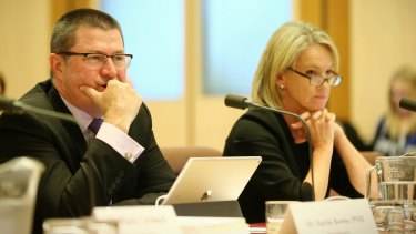 Department of Health Secretary Martin Bowles and Senator Fiona Nash at the Senate estimates hearing.