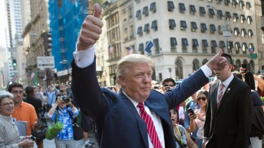 Republican presidential candidate Donald Trump has always been a big fan of himself.