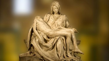 President Duterte said  the media had tried to portray the picture of Jennilyn Olayres and her husband as being like Michelangelo's Pieta.