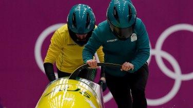 Australian bobsledders.
