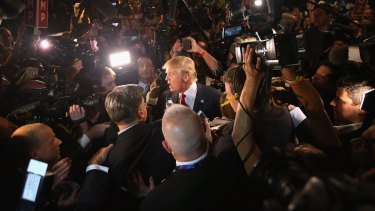 All eyes on me: Republican presidential candidate Donald Trump's outrageous remarks once again make him the centre of attention.