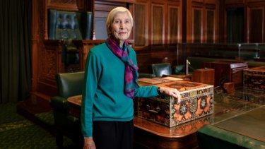 Sir Robert Menzies' daughter Heather Henderson at Old Parliament House.