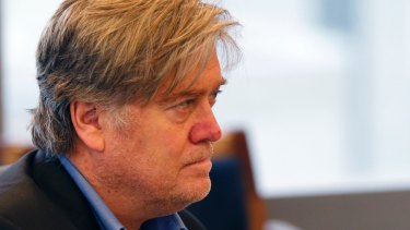 Former Breitbart editor Stephen Bannon was present in the meeting.