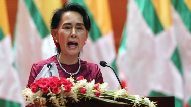 Myanmar's State Counsellor Aung San Suu Kyi delivers a televised speech to the nation on the same day she was due, but declined, to appear at the UN.