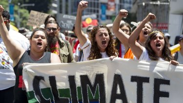 Climate protesters at the G20 summit in Brisbane.