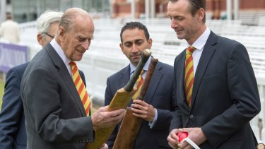 Prince Philip, very much alive, at Lord's Cricket Ground in London on Wednesday.