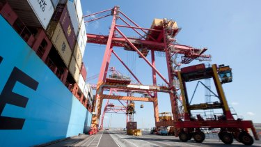 Balance: A jump in export volumes helped offset weakness in other areas of the economy.
