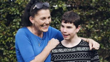 """""""It's my job to enable him to be the best person that he can possibly be"""": Ally Lancaster with her son Connor McLeod."""