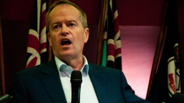 Mr Shorten said his party would stand up for workers such as Selina Young.