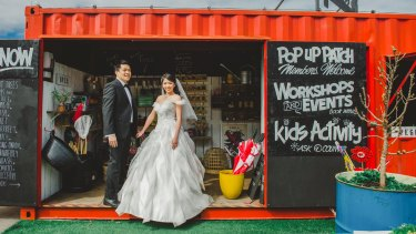 The couple flew from Singapore to Melbourne to have photos taken.