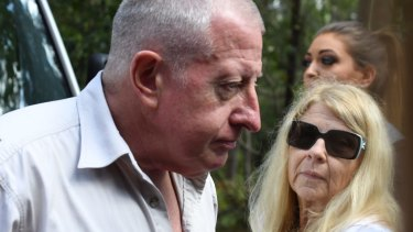 Mark and Faye Leveson as the search began last Friday.