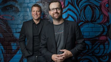 School friends and Aconex co-founders Rob Phillpot and Leigh Jasper have in 16 years taken the company from a two-man team, kicking a footy while discussing business plans, to more than 400 employees.