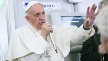 Pope Francis discusses birth control and Zika with journalists aboard the plane during the flight from Mexico to Rome.