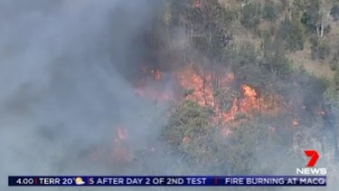 The fire in Lane Cove National Park broke out on Tuesday morning.