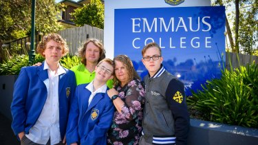 Fees at Emmaus College in Vermont South will rise 7.5 per cent next year, upsetting Cameron and Catherine McAlpine and their three sons, Leigh, Julian and Aaron.